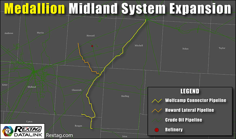 Medallion Midland System Expansion Map