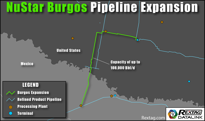 NuStar Burgos Pipeline Expansion Map