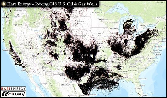 Rextag GIS U. S. Oil & Gas Wells