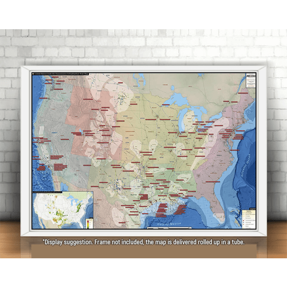 U.S. Crude Oil Infrastructure Printed Map Updated October 2017 display suggestion