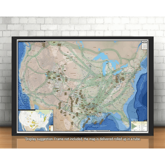 U.S. Natural Gas Infrastructure Printed Map Updated October 2017 display suggestion