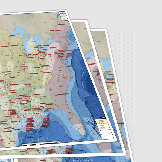 U.S. Natural Gas, Crude Oil, Refined Products Infrastructure Printed Maps
