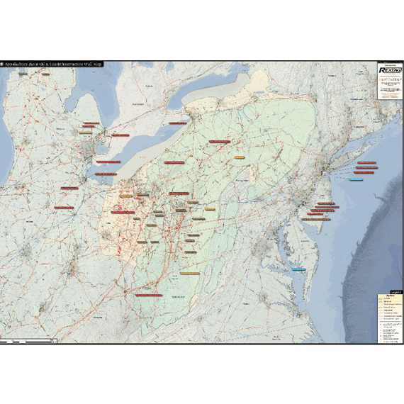 Appalachian Basin Printed Map Updated October 2017 Preview