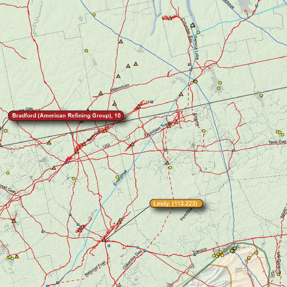 Appalachian Basin Printed Map Updated October 2017 map detail