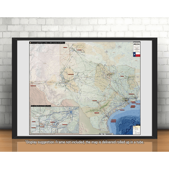 Texas Liquids Infrastructure Printed Map Updated October 2017 display suggestion