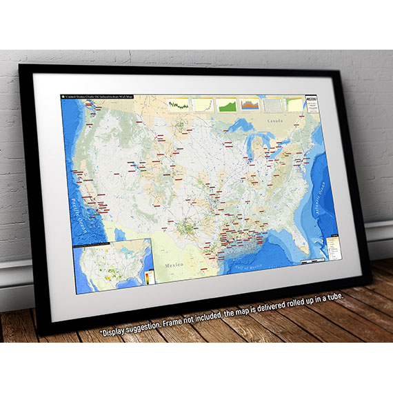 U.S. Crude Oil Infrastructure Printed Map Updated January 2019 display suggestion