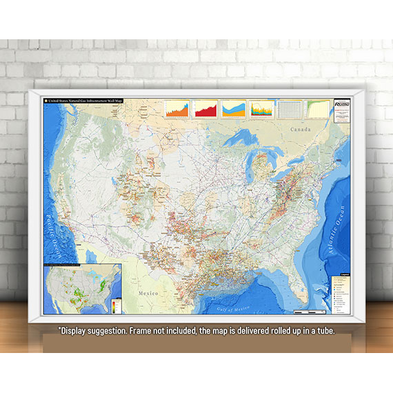 U.S. Natural Gas Infrastructure Printed Map Updated January 2019 display suggestion