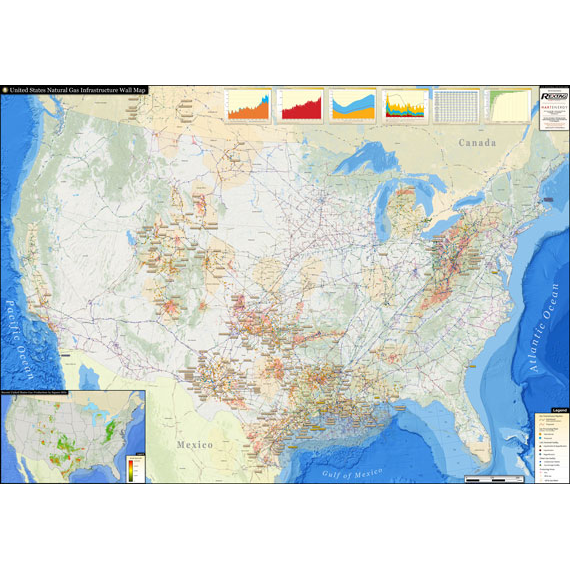 U.S. Natural Gas Infrastructure Printed Map Updated January 2019