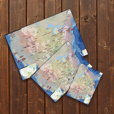 Multiple sizes printed maps